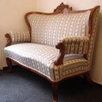 Sofa - solid walnut wood, French polish - 1860
