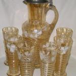 Glass Jug with Glasses - 1880