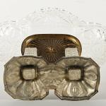 Glass Pedestal Bowl - metal, glass - 1930