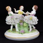 Porcelain Figural Group - white porcelain - Volkstedt - 1930