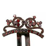 Jewel - Czech garnet, tombac - 1890