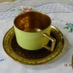 Cup and Saucer - white porcelain - 1920