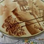 Porcelain Round Tray - chrome, white porcelain - 1940