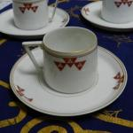 Cup and Saucer - white porcelain - JAEGER & Co Marktredwitz Holwein 1907 - 1907