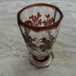 Glass Spa Sipping Cup - clear glass - 1870