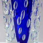 Larger vase with blue center and bubbles