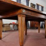Extending Table - brass, solid walnut wood - 1980