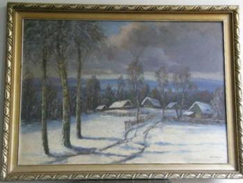 Winter Landscape - Hluboš - 1940
