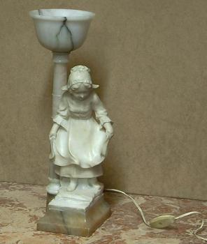 Figural table lamp