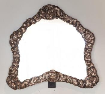 Framed Mirror - silver - 1890