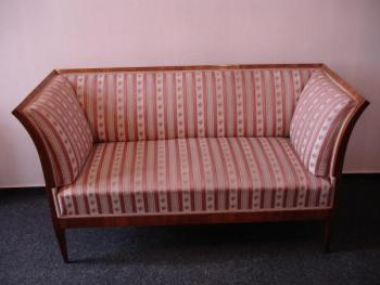 Sofa - wood, walnut veneer - 1830