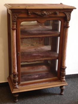 Display Cabinet - wood, walnut wood - 1880