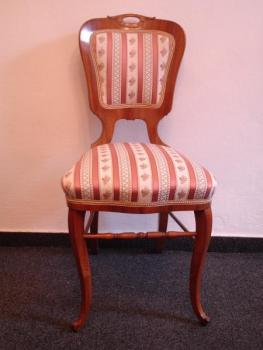 Four Chairs - solid walnut wood - 1860
