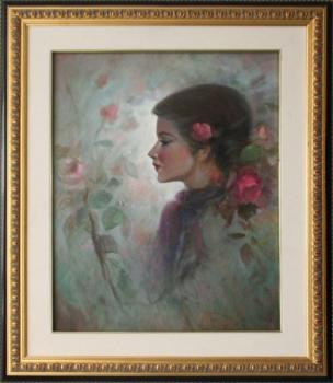 Mario Ronca: Girl with roses