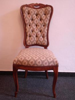 Pair of Chairs - solid walnut wood - 1860