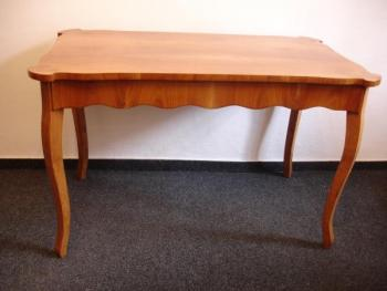 Dining Table - cherry veneer, French polish - 1850