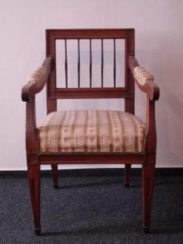 Armchair - solid oak, French polish - 1780