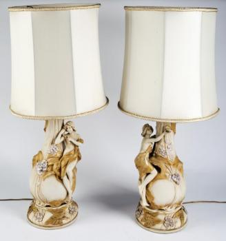 Pair of Porcelain Stutues - 1905