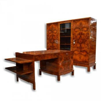 Kabinett Furniture - walnut burr, French polish - 1930