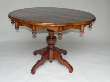Round Table - solid wood, veneer - 1840