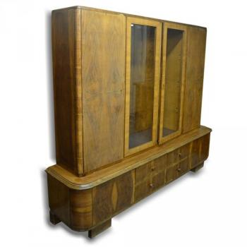 Bookcase with Glazed Doors - walnut wood - 1935
