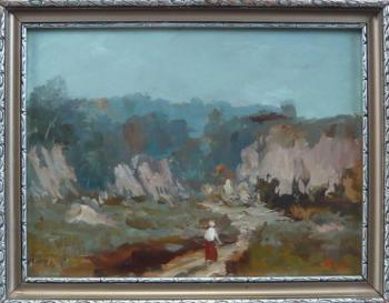 Alois Hejl - Landscape with figure