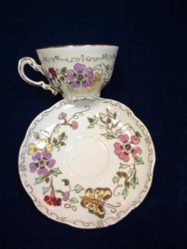 Cup and Saucer - Zsolnay-Hungary,Pecs - 1930
