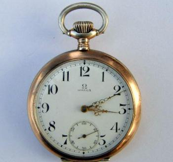 Pocket Watch - patinated silver - Omega - 1930