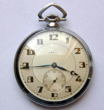Pocket Watch - chrome - Zenith - 1930