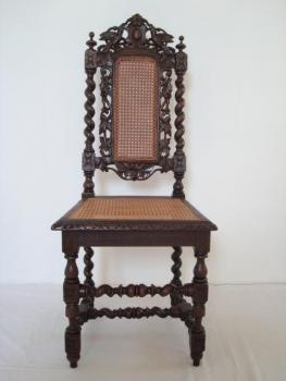 Chair - solid oak - 1880