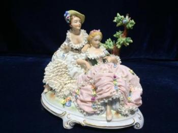 Porcelain Group of Figures - Volkstedt - Rudolstadt - 1920