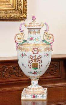 Porcelain Vase with Lid - porcelain - 1825