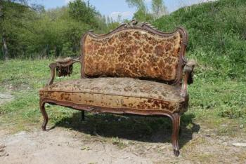 Sofa - walnut wood - 1870