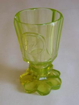 Glass with monogram