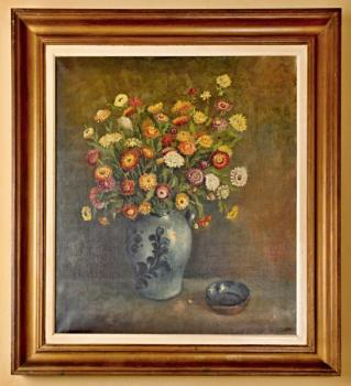Still Life with Flowers - wood - 1975