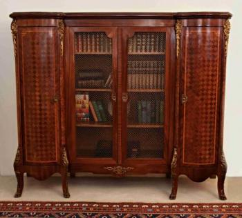 Bookcase - bronze, solid wood - 1890