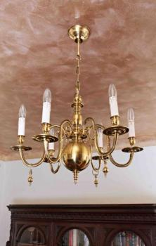 Six Light Chandelier - bronze - 1890