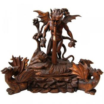 Woodcarving - wood, walnut wood - 1600