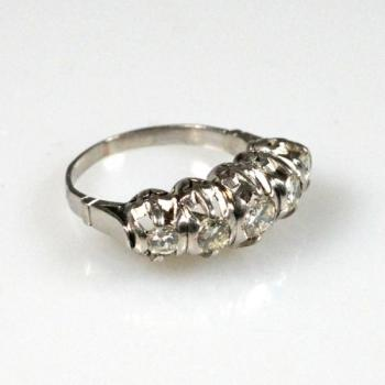 Platinum Ring - platinum, brilliant cut diamond - 1930