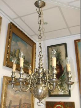 Five Light Chandelier - bronze - 1920
