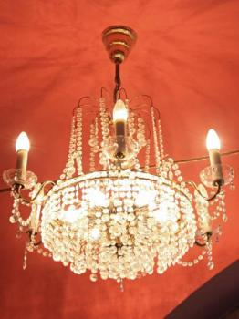 Chandelier - crystal - 1960