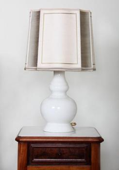 Table Lamp - fabric, porcelain - 1970