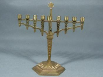 Metal Candelabrum - patinated brass - 1930