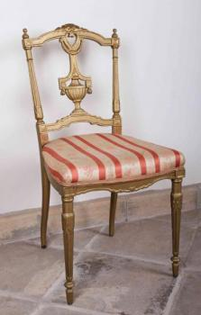 Chair - wood, fabric - 1900