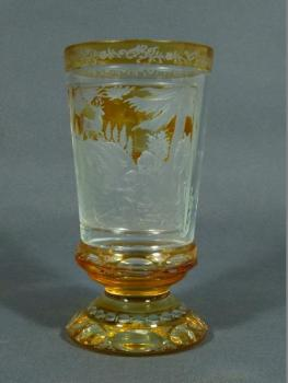 Glass Goblet - flashed glass - 1880