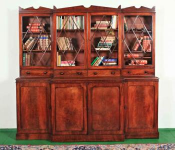 Bookcase with Glazed Doors - mahogany - 1850