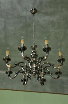 Eight Light Chandelier - tin - 1965