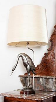 Table Lamp - wood, metal - 1960