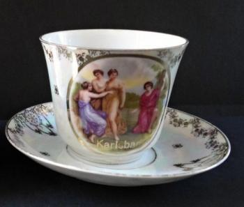 Big cup with saucer - Karlsbad