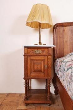 Pair of Bedside Tables - solid oak - 1900